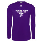 Under Armour Purple Long Sleeve Tech Tee-Bulldog T