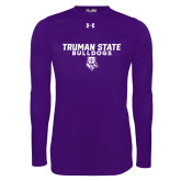 Under Armour Purple Long Sleeve Tech Tee-Bulldog