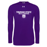Under Armour Purple Long Sleeve Tech Tee-Bulldog Head