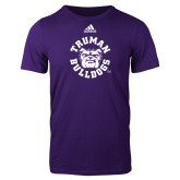 Adidas Purple Logo T Shirt-Secondary Mark