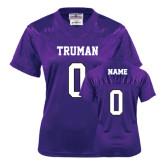 Ladies Purple Replica Football Jersey-