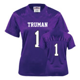Ladies Purple Replica Football Jersey-#1