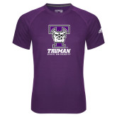 Adidas Climalite Purple Ultimate Performance Tee-Primary Mark