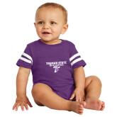 Vintage Purple Jersey Onesie-Bulldog T