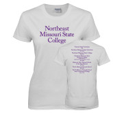 Ladies White T Shirt-Northeast Missouri State College