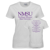 Ladies White T Shirt-NMSU
