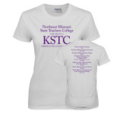 Ladies White T Shirt-KSTC