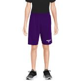Youth Purple Competitor Shorts-Bulldog T