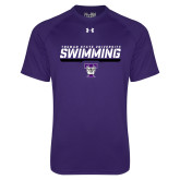 Under Armour Purple Tech Tee-Swimming Design