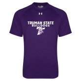 Under Armour Purple Tech Tee-Bulldog T