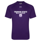 Under Armour Purple Tech Tee-Bulldog Head