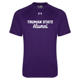 Under Armour Purple Tech Tee-Alumni Script