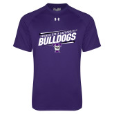 Under Armour Purple Tech Tee-Slanted Design