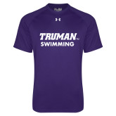 Under Armour Purple Tech Tee-Swimming