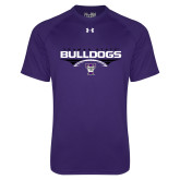 Under Armour Purple Tech Tee-Football Design