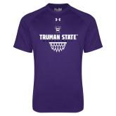 Under Armour Purple Tech Tee-Basketball Net Design