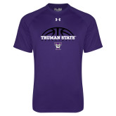 Under Armour Purple Tech Tee-Basketball Design