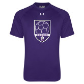 Under Armour Purple Tech Tee-Soccer Design