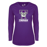 Ladies Syntrel Performance Purple Longsleeve Shirt-Primary Mark