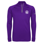 Under Armour Purple Tech 1/4 Zip Performance Shirt-Secondary Mark