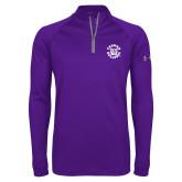 Under Armour Purple Tech 1/4 Zip Performance Shirt-Secondary Mark