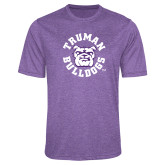 Performance Purple Heather Contender Tee-Secondary Mark