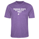 Performance Purple Heather Contender Tee-Bulldog T