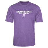 Performance Purple Heather Contender Tee-Bulldog