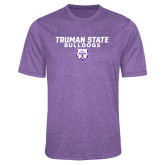 Performance Purple Heather Contender Tee-Bulldog Head