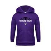 Youth Purple Fleece Hoodie-Basketball Design
