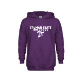 Youth Purple Fleece Hoodie-Bulldog T