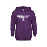 Youth Purple Fleece Hoodie-Bulldog