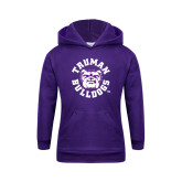 Youth Purple Fleece Hoodie-Secondary Mark