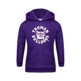 Youth Purple Fleece Hoodie-Secondary Mark