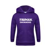 Youth Purple Fleece Hoodie-Swimming
