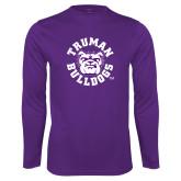 Performance Purple Longsleeve Shirt-Secondary Mark