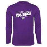 Performance Purple Longsleeve Shirt-Slanted Design