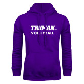 Purple Fleece Hoodie-Volleyball