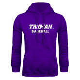 Purple Fleece Hoodie-Baseball