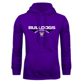 Purple Fleece Hoodie-Football Design