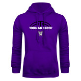 Purple Fleece Hoodie-Basketball Design
