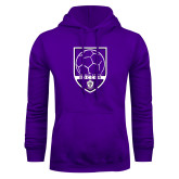 Purple Fleece Hoodie-Soccer Design