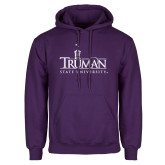 Purple Fleece Hoodie-Truman University Mark