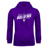 Purple Fleece Hoodie-Slanted Design