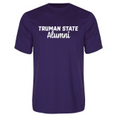 Performance Purple Tee-Alumni Script