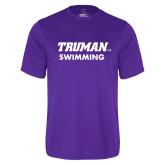 Performance Purple Tee-Swimming