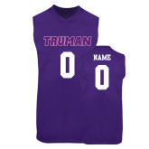 Replica Purple Adult Basketball Jersey-Personalized