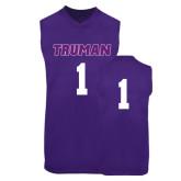 Replica Purple Adult Basketball Jersey-#1