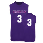 Replica Purple Adult Basketball Jersey-#3