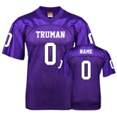 Replica Purple Adult Football Jersey-Personalized